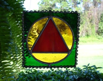 Stained Glass Recovery Symbol
