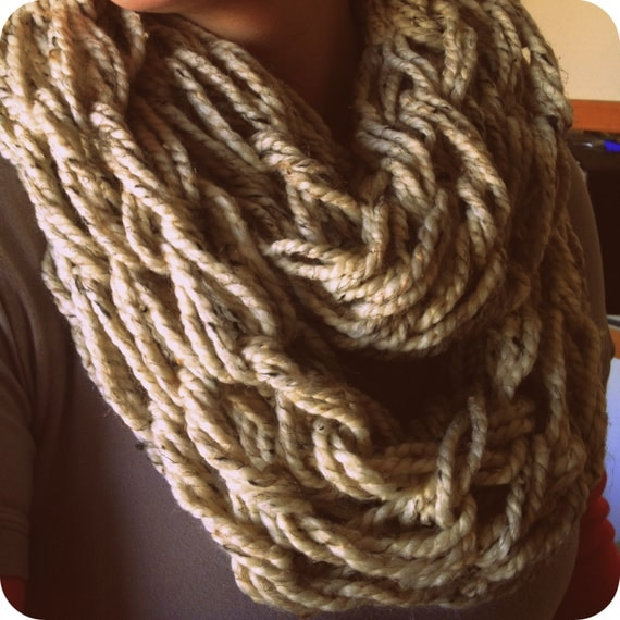 Arm Knitting Infinity Scarf : Super chunky arm knit infinity scarf by twistingsister on etsy