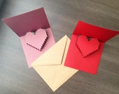 8 Bit pixel art pop up valentine card