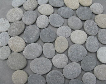 "100 Stones 2"" to 2 1/2"" Smooth, Flat, Round,Oval Beach Rocks,Wishing Stones,River Rock,Wedding Stones, Wedding Decor"