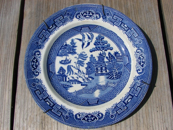 Swedish Antique Gustavsberg Collectible Plate From Willow