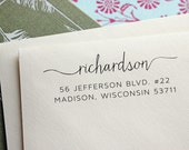 Address Stamp - Self Inking Address Stamp - Moving Announcement - Wedding Gift - Housewarming Gift