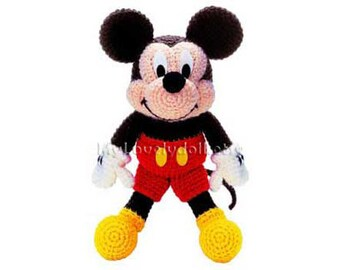 Mickey Mouse Amigurumi Crochet PDF Pattern in English