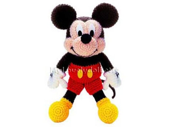 Amigurumi De Mickey Mouse Paso A Paso : Mickey Mouse Amigurumi Crochet PDF Pattern in English