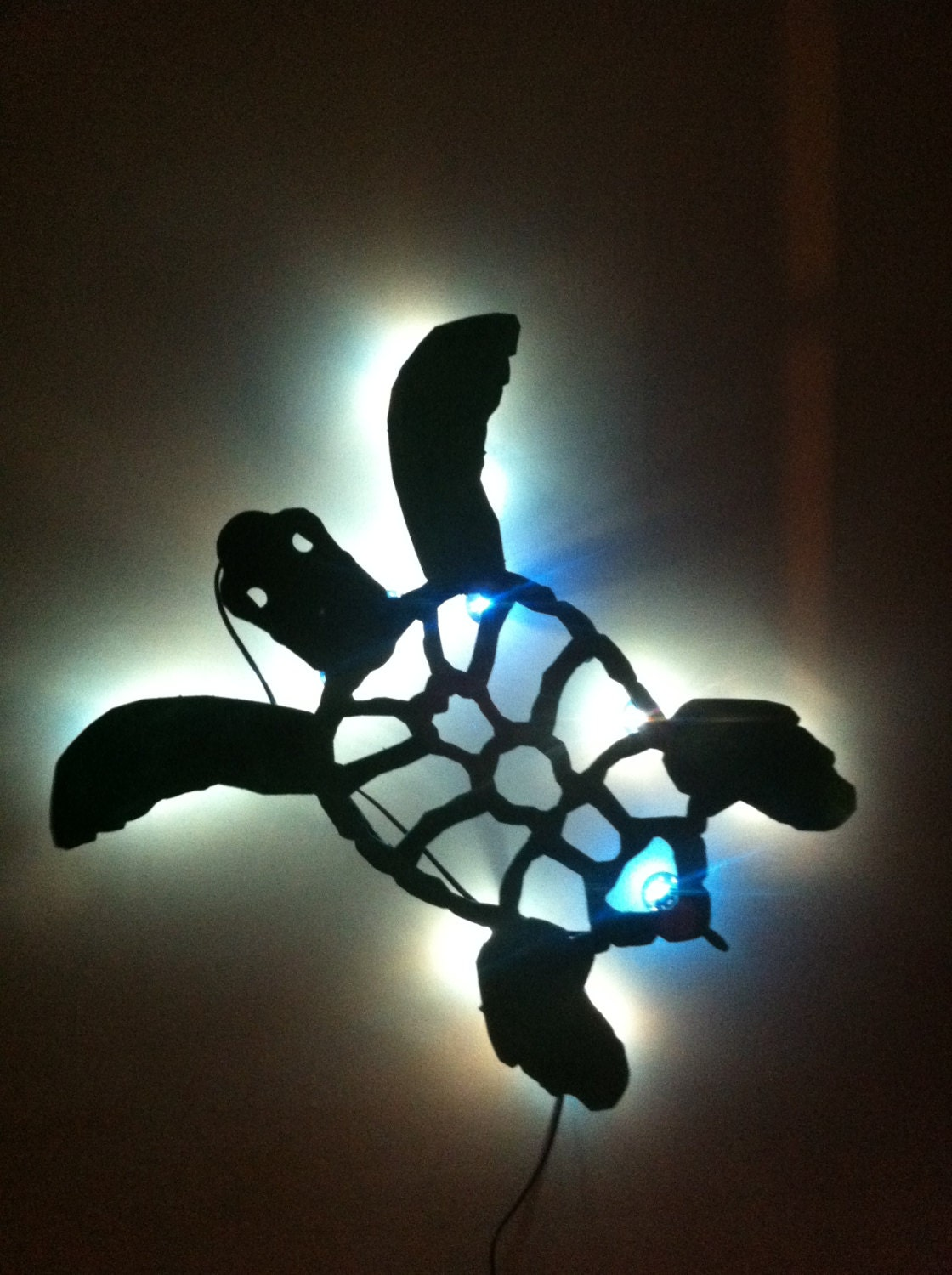 Sea turtle night light marquee sign back lite approx 24 - Turtle nite light ...