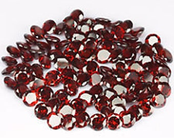 Lot of 25 Pieces AAA Quality Red Garnet Round cut 3 MM Loose Gemstone Calibrated