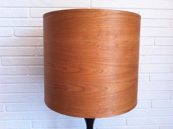wood lamp shade cherry veneer 15 inch. Black Bedroom Furniture Sets. Home Design Ideas