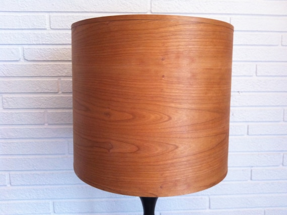 Wood Lamp Shade Cherry Veneer 15 Inch