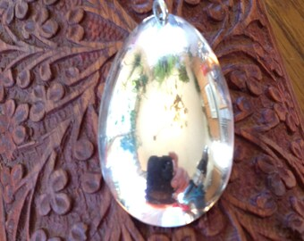 sterling silver egg pendant