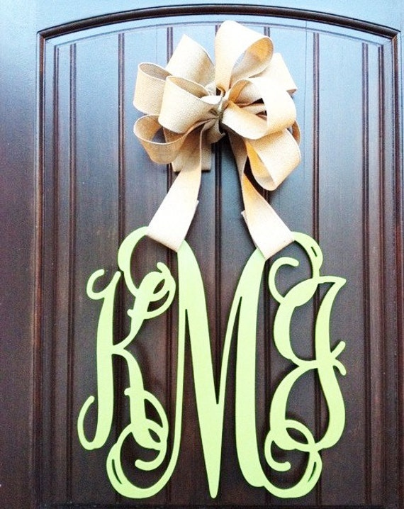 26 inch wooden monogram wall letters wedding decor home - Wood letter wall decor ...