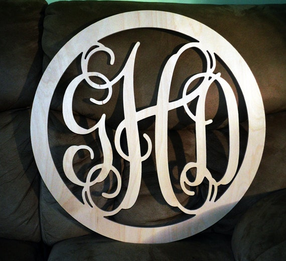 20 INCH BORDER Wooden Monogram Wall Letters Wedding Decor