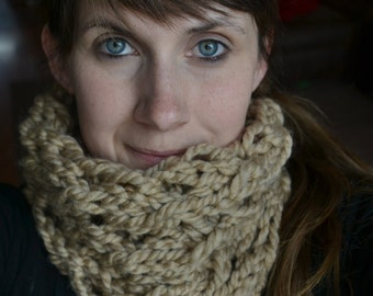 Big Lace Handmade Knitted Cowl Neckwarmer | For Her