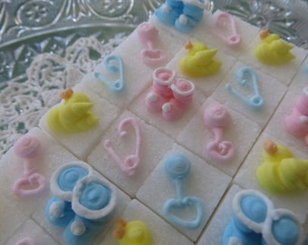 Adorable Baby Shower Sugar Cubes