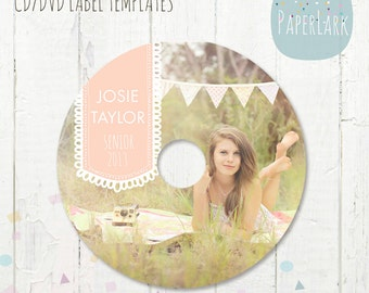 CD/dvd label photoshop template -ES002- INSTANT Download