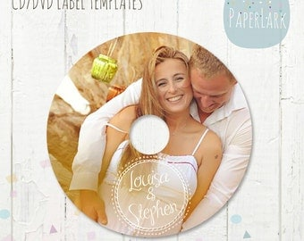 CD/dvd label photoshop template - ES003 - INSTANT Download