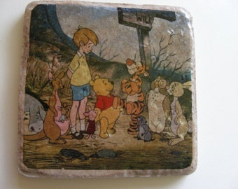 Winnie the Pooh Characters Ceramic Tile Coasters