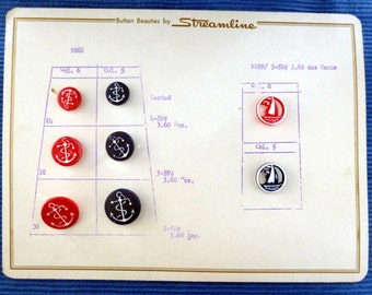 Anchor and sail buttons
