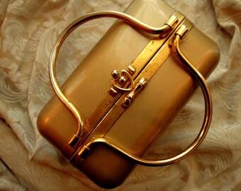 Black and Gold Metal Trunk Bag