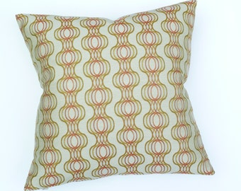 """Mid Century Modern style Accent Pillow - 17"""" x 17"""" feather/down insert included"""