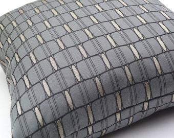 "Designtex Landau Silver Mine designer modern accent Pillow -  17"" X 17"""
