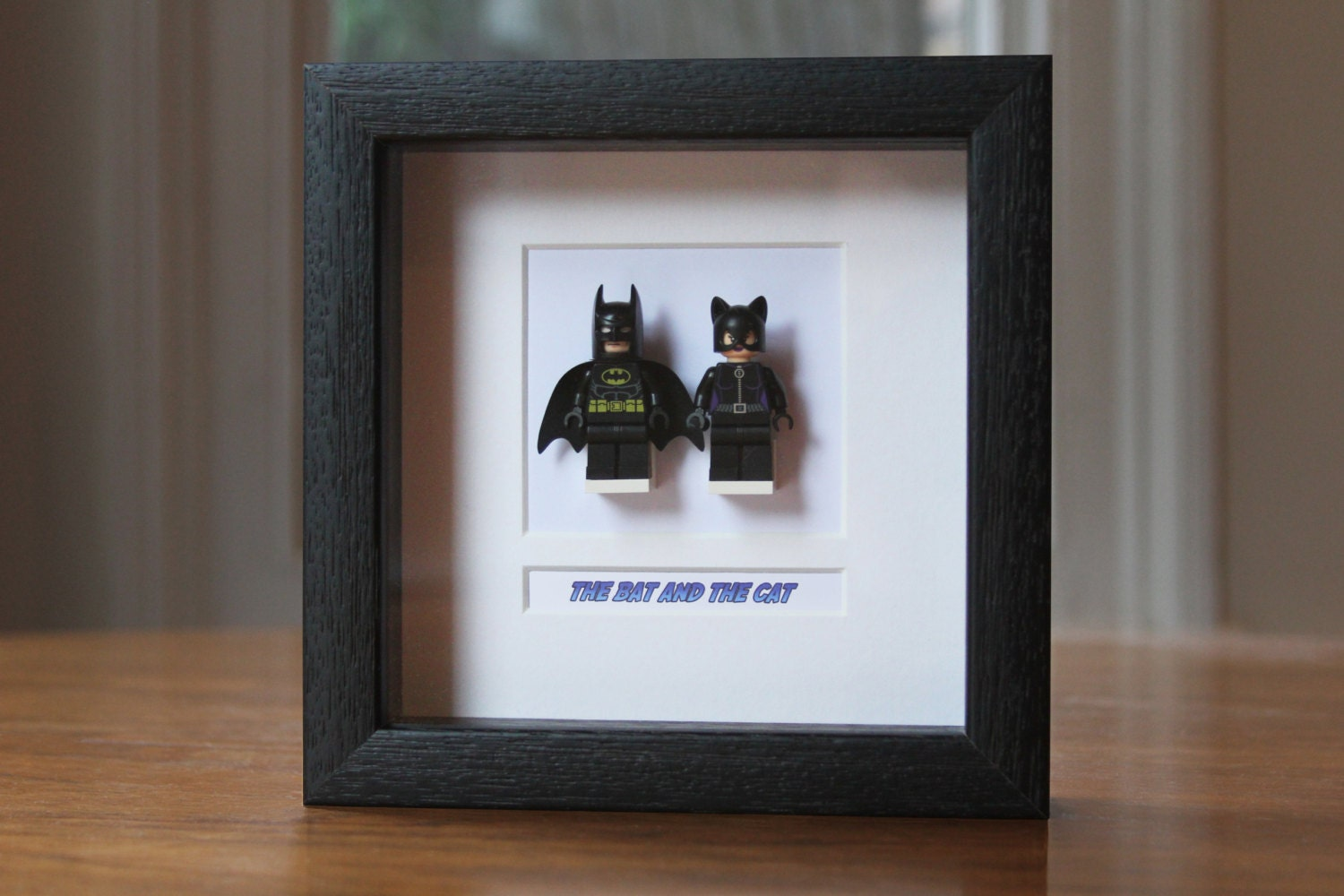 Superheroes Framed Mini Figures Batman Amp Catwoman Made From