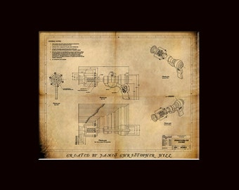 Steampunk Blueprints - Steampunk Ray Gun