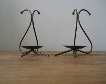 Pair of Art Deco  Kuster-Perry Candle Holders
