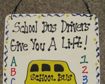 Teacher GIfts 5110  School Bus Drivers Give You a Lift