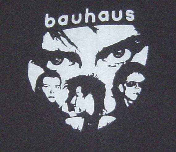 bauhaus punk rock gothic band t shirt s new black by punkedelik. Black Bedroom Furniture Sets. Home Design Ideas