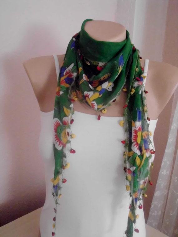 turkish scarves crochet scarves multicolor authentic