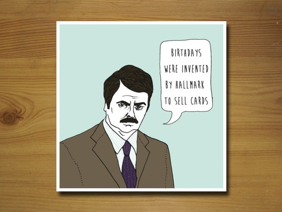 valentines day quotes for dad and mom humorouis - Items similar to Ron Swanson Parks and Recreation