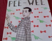 Pee-Wee Herman Watercolor Illustration Artwork