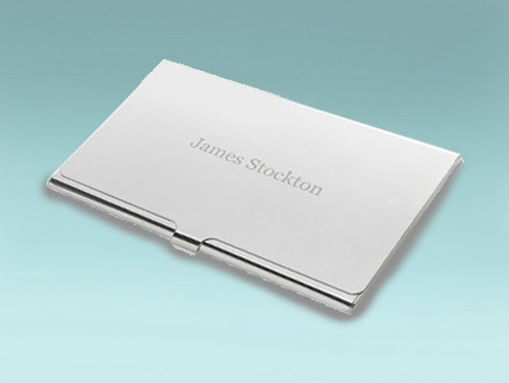 Contemporary Silver Business Card Holder It s not by