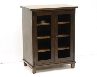 Stereo Cupboard / Stereo Cabinet with Two Glass Doors / Display Cabinet