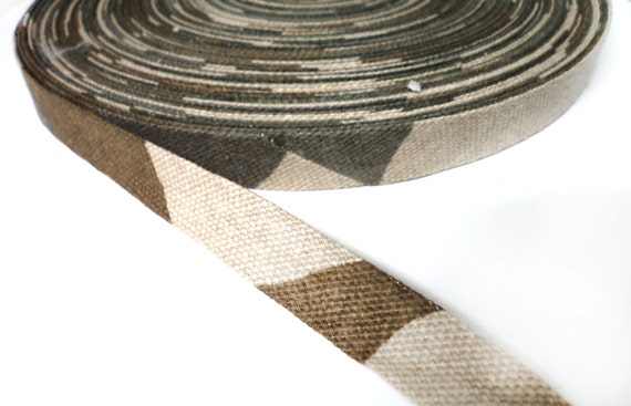 5 YARDS Army Camouflage Bias Trim Ribbon  0.5'' - for Crafts, Sewing , Accessories