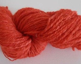 Destash Yarn - Yarn By Yay For J Kool Red Handdyed Handspun  - Red