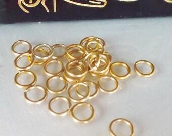 Aluminum 6mm 18g (100) Matte Gold Jumprings
