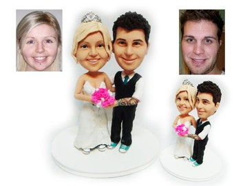 Personalised wedding cake topper - we are married  (Free shipping)