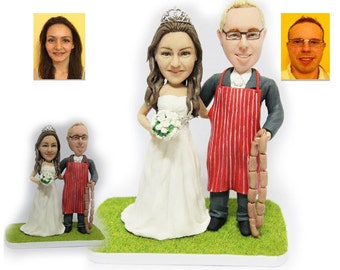 Personalised wedding cake topper - sausage man wedding cake topper (Free shipping)