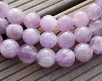 Natural Lavender Amethyst (Madagascar) 11-13mm round beads (ETB00075)