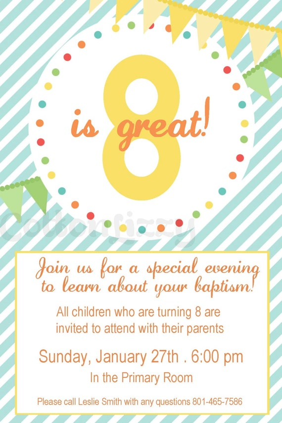 8 is great invitation