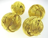 50% OFF CLEARANCE 12 pcs 16mm Gold Plated Wire Wrap Balls Spacers Bead