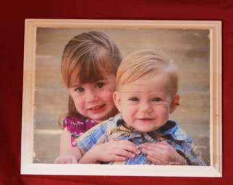 Personalized Wood Photos 11x13 FREE SHIPPING
