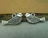 100pcs 11x21mm Antique Silver Bird Charms Pendants AC3918
