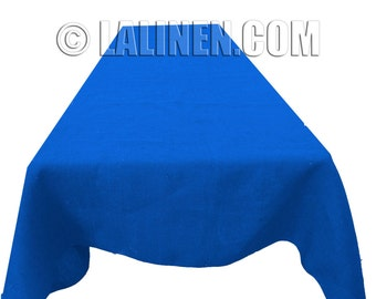 """Colored  Burlap Tablecloth 60"""" X 120"""". Made in the USA"""