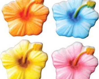 30 Edible Hibiscus Assortment  Sugar Decorations        Simply Darling