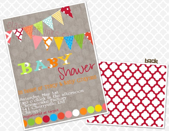 baby shower primary colors bright colors baby sprinkle baby shower
