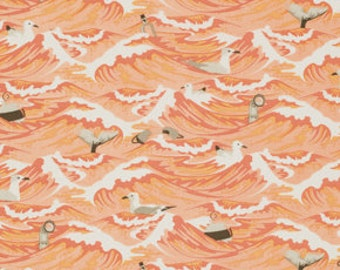Debris coral   Tula pink salt water 0,5 m fabric pure Cotton