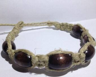 Design-Beaded Hemp Bracelet