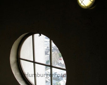 Tower Window.  Art photography, city photography, Coit Tower, San Francisco, round window